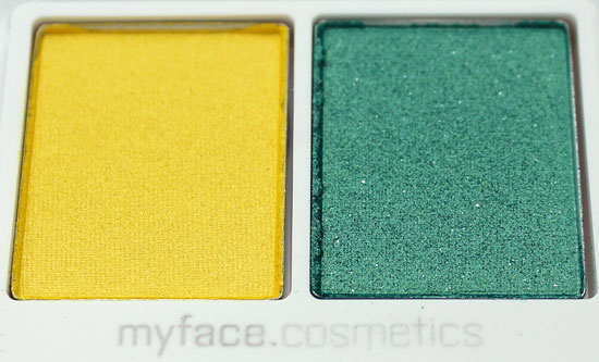 myface cosmetics Fame eyeshadow duo closeup