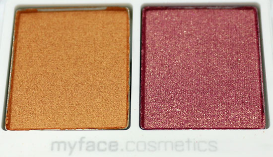 myface cosmetics Siren eyeshadow duo closeup