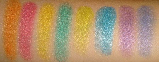 myface cosmetics SilkScreen Eye Art Eyeshadow Duos swatches