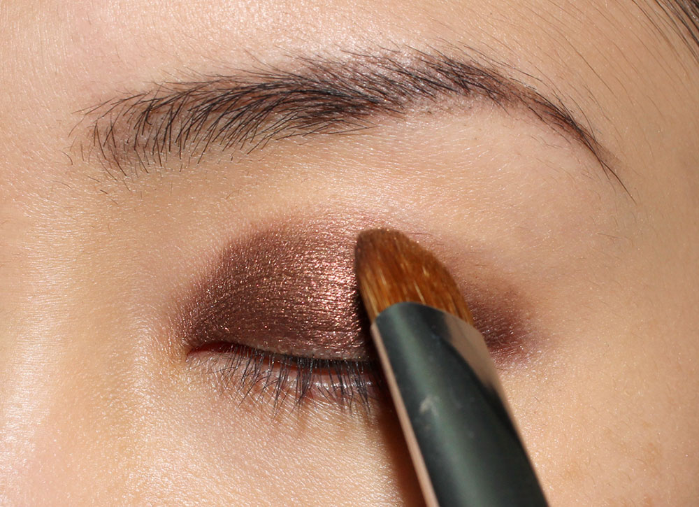Anastasia Foxy Eyeshadow from She Wears It Well Eyeshadow Palette on eyelid