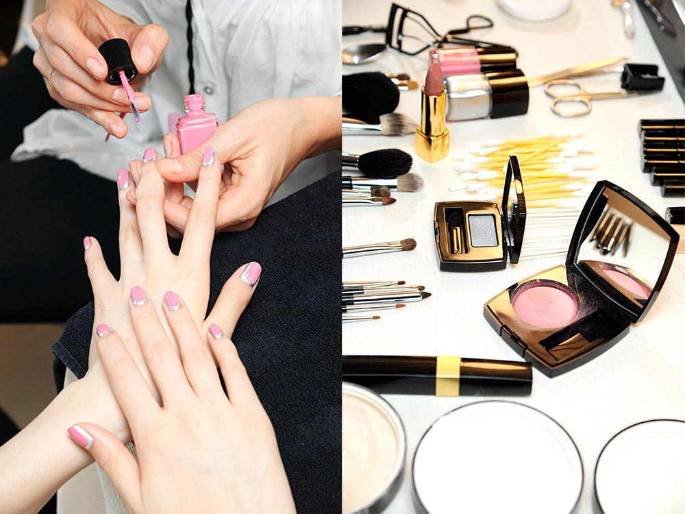 Chanel Fall 2012 Couture Backstage Nails