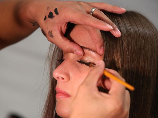 Cia.Maritima at MBFW Swim 2013 Backstage Makeup