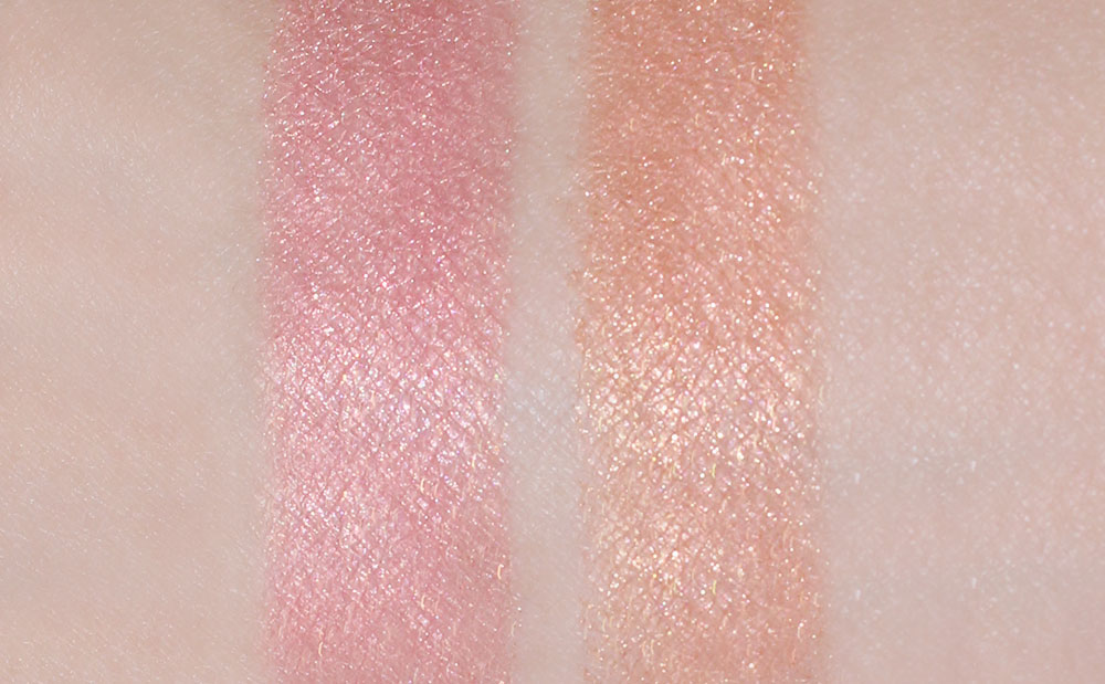 MAC Star Wonder and Light Year Mineralize Skinfinish swatches