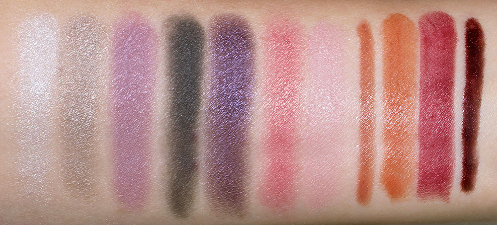 NARS Fall 2012 Collection Swatches