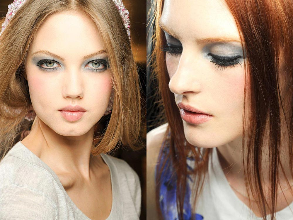 Gray Eyes and Pink Lips at Chanel Fall 2012 Couture