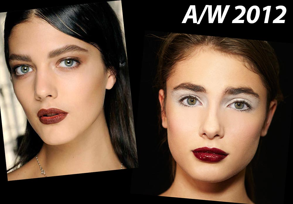 Fall 2012 runway goth makeup trend