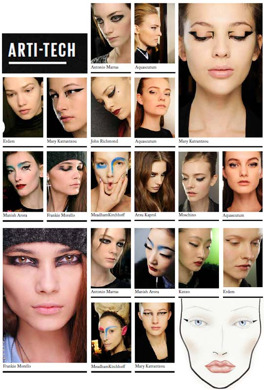 MAC Autumn/Winter 2012 Arti-tech Trend and Makeup Looks
