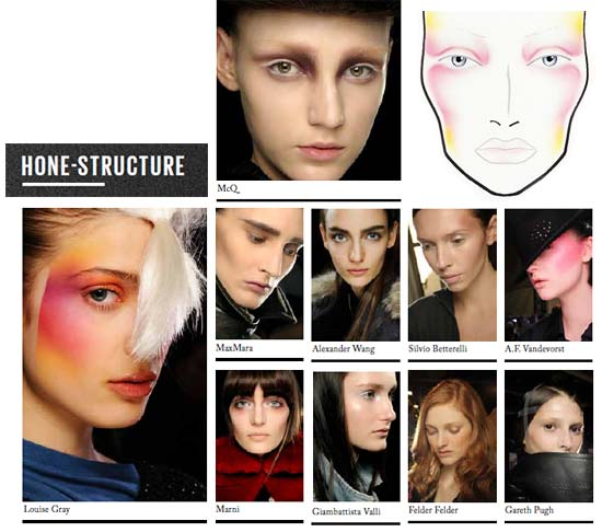 MAC Autumn/Winter 2012 Hone Structure Makeup Trend and Looks
