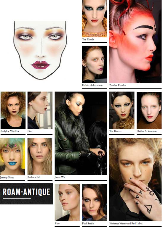 MAC Autumn/Winter 2012 Roam-antique Trend and Makeup Looks
