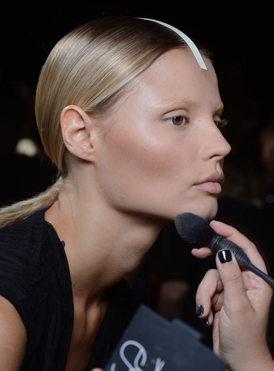 Alexander Wang Spring/Summer 2013 backstage makeup by NARS
