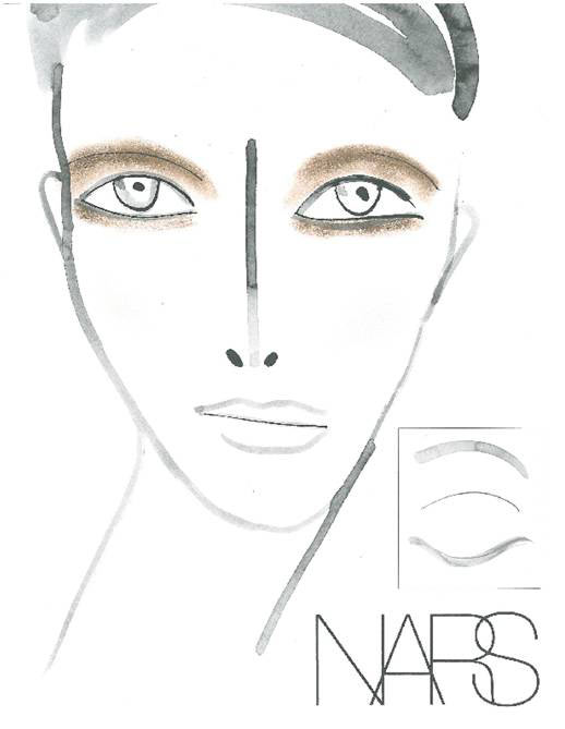 Alexander Wang Spring/Summer 2013 NARS Makeup Facechart