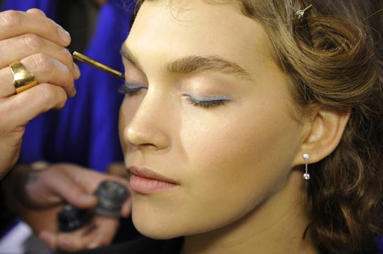 Anthony Vaccarello Spring/Summer 2013 backstage makeup
