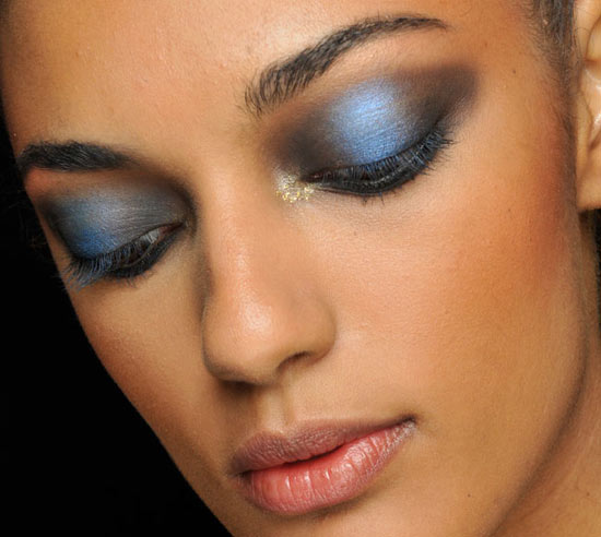 Arabian Blue Smoky Eyes at Jeremy Scott Spring/Summer 2013