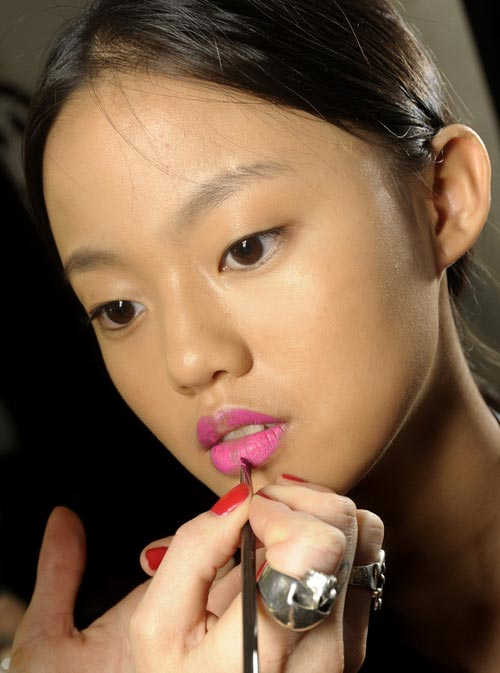 Holly Fulton Spring/Summer 2013 backstage makeup by MAC