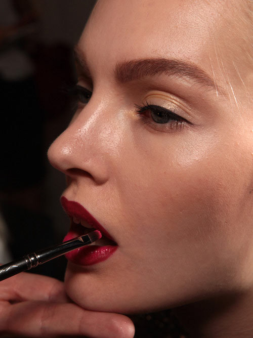 Jason Wu Spring/Summer 2013 backstage makeup by MAC Cosmetics
