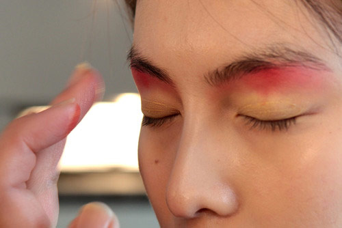 Peter Som Spring/Summer 2013 Backstage Makeup by MAC Cosmetics