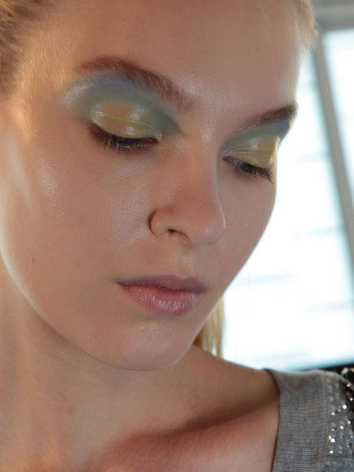 Colorful eyeshadow at Peter Som Spring/Summer 2013