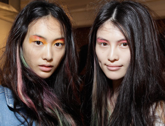 Peter Som Spring/Summer 2013 Runway Hair and Makeup