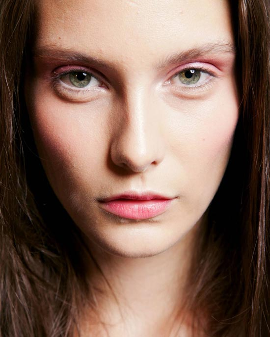 Pink Eye and Lip makeup at Costello Tagliapietra Spring/Summer 2013