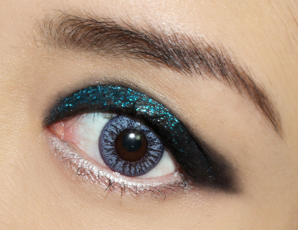 Rock 'n Roll Glitter Eye Makeup Tutorial