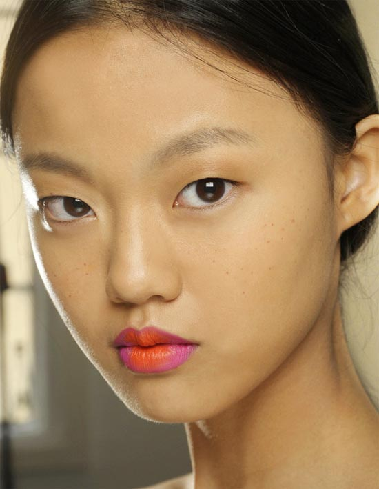 Two-toned Lip at Holly Fulton Spring/Summer 2013