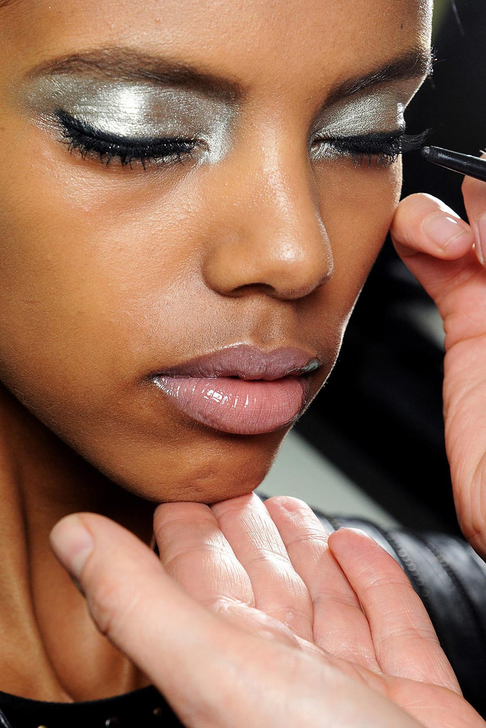 Backstage makeup at Chanel Spring/Summer 2013