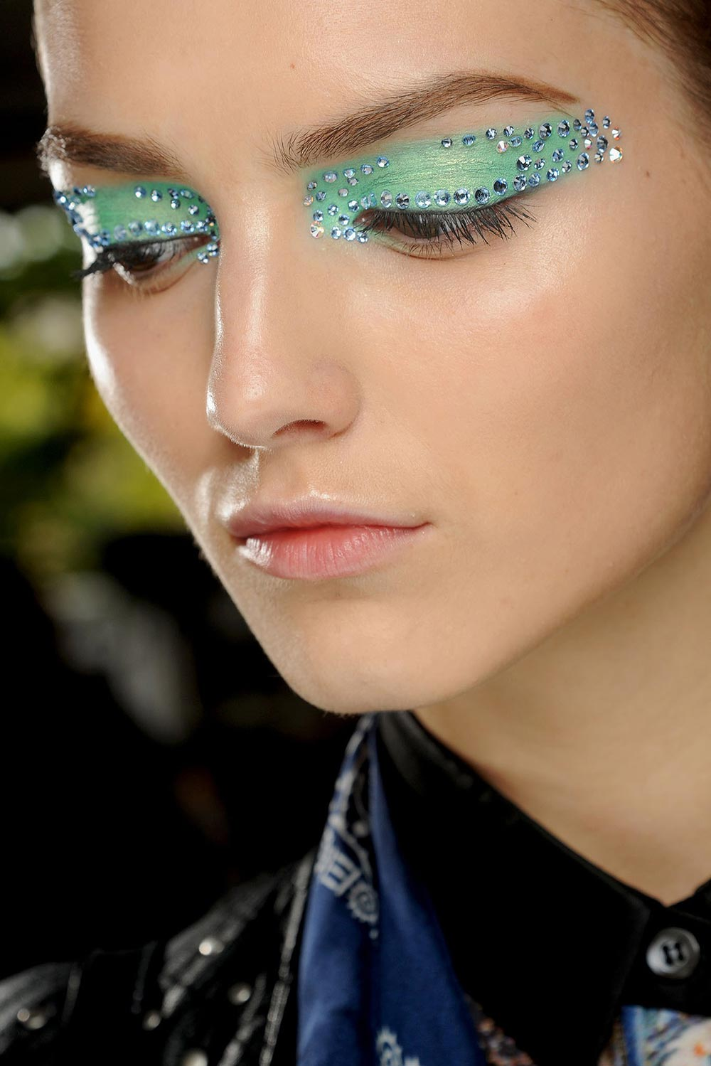 Runway Beauty: Blinged Up Eyes at Christian Dior Spring ...