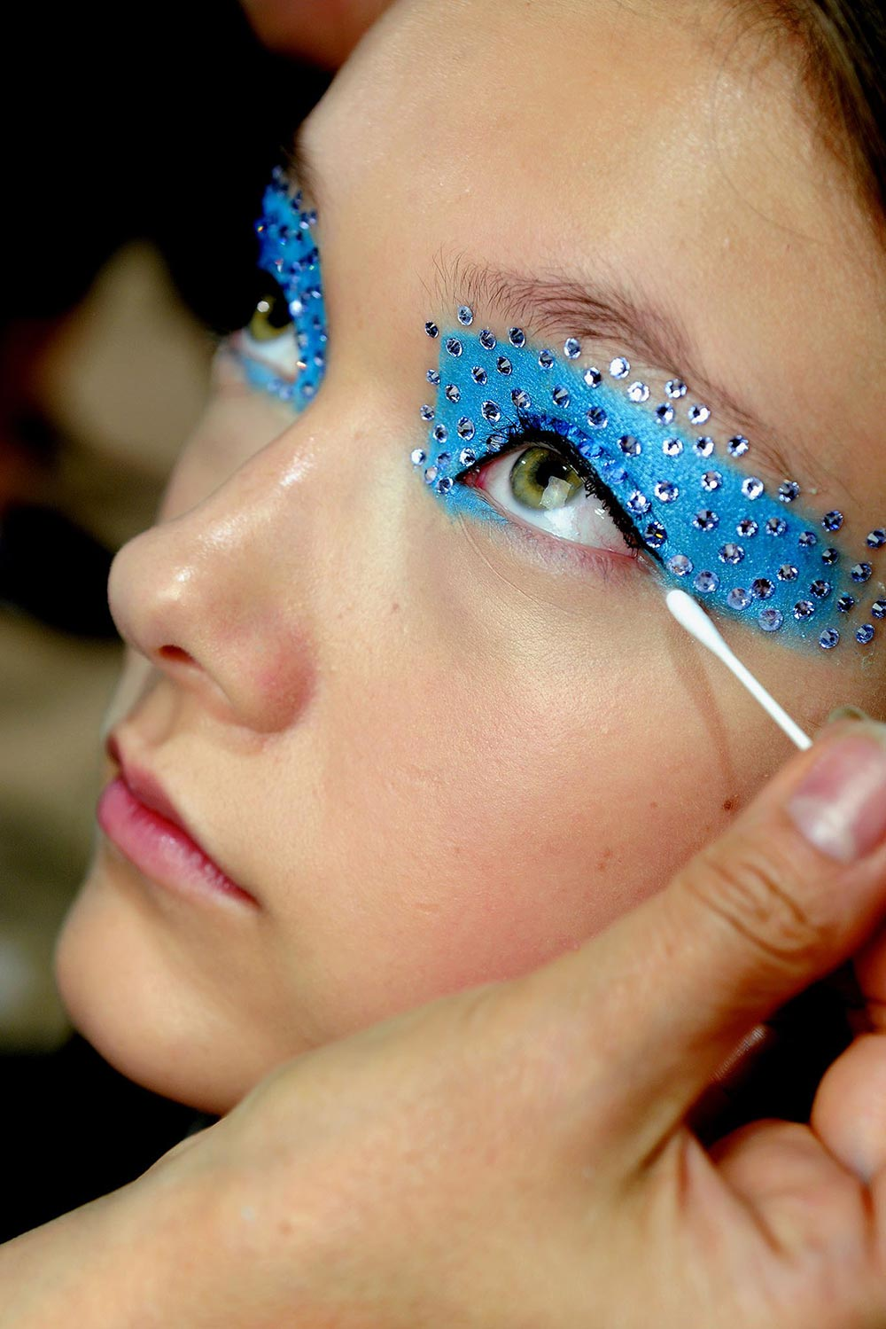 Christian Dior Spring/Summer 2013 rhinestones beauty look