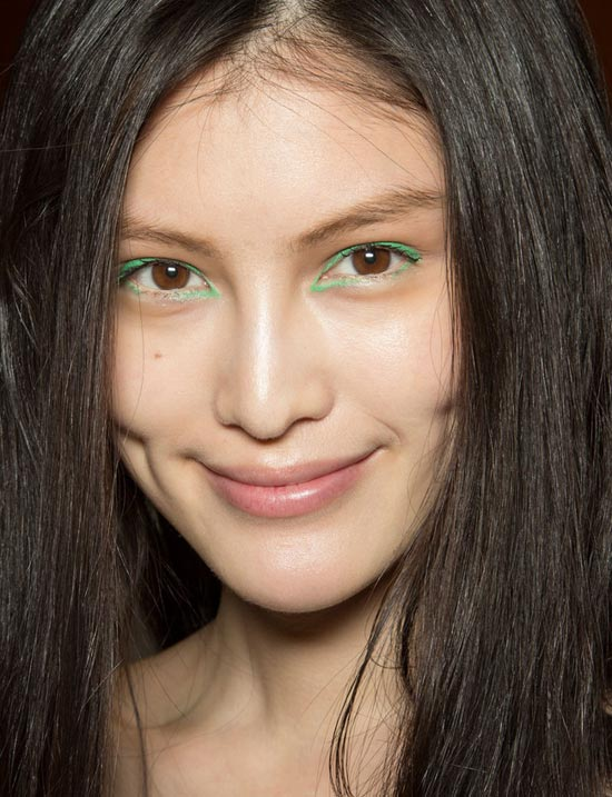 Green Eyeliner at Kenzo Spring/Summer 2013
