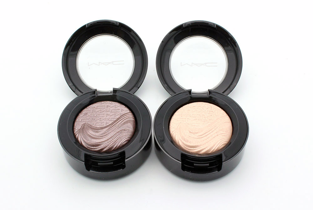 MAC Stolen Moment and A Natural Flirt Extra Dimension Eyeshadow reviews