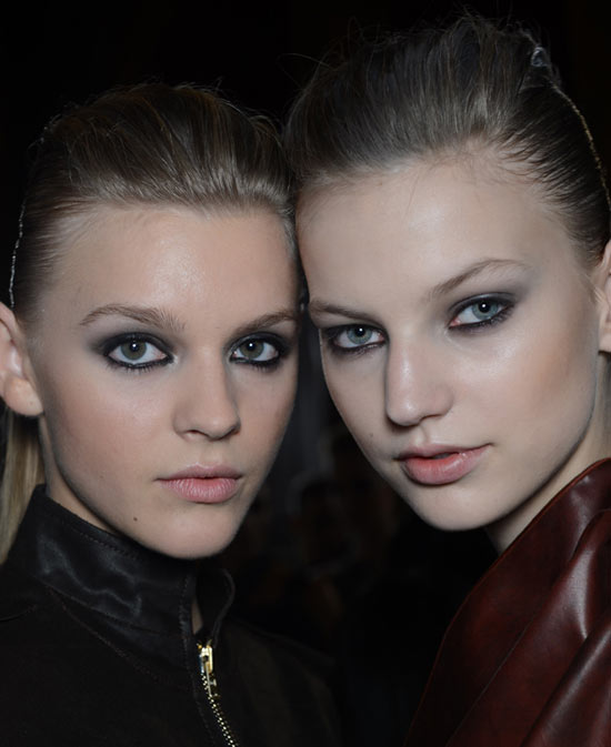 Smoky Eyes and Luminous Skin at Roland Mouret Spring/Summer 2013
