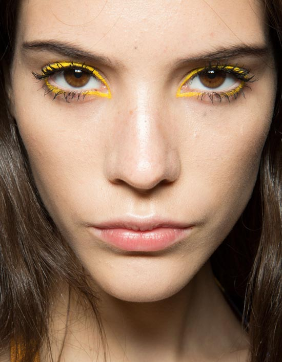 Yellow Eyeliner at Kenzo Spring/Summer 2013
