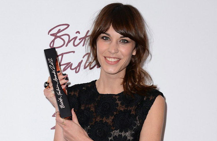 Alexa Chung rocking Nails Inc Leather Polish in Black