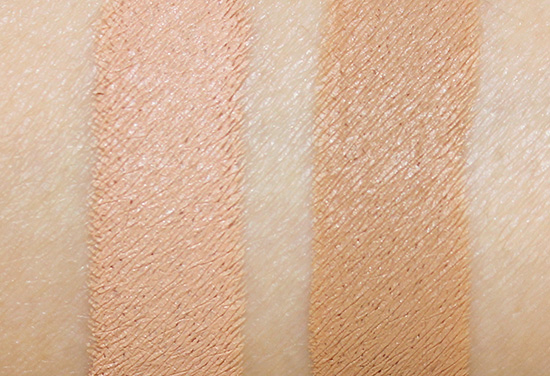 Cle de Peau Concealer Beige and Ocher swatches