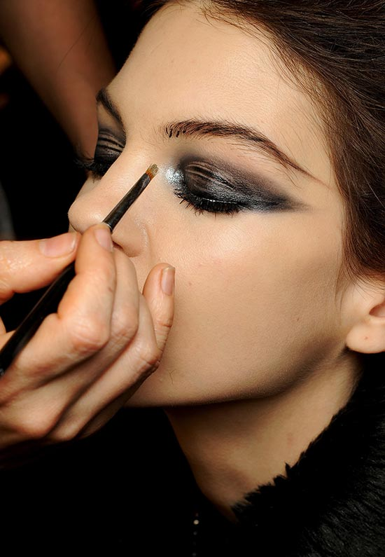 Backstage beauty at Jean Paul Gaultier Spring 2013 Couture