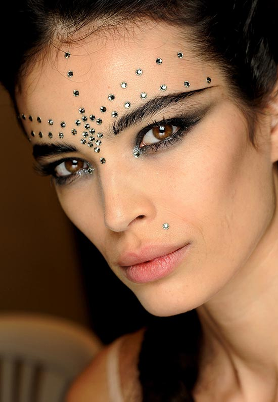 Jean Paul Gaultier Spring 2013 Couture runway makeup look