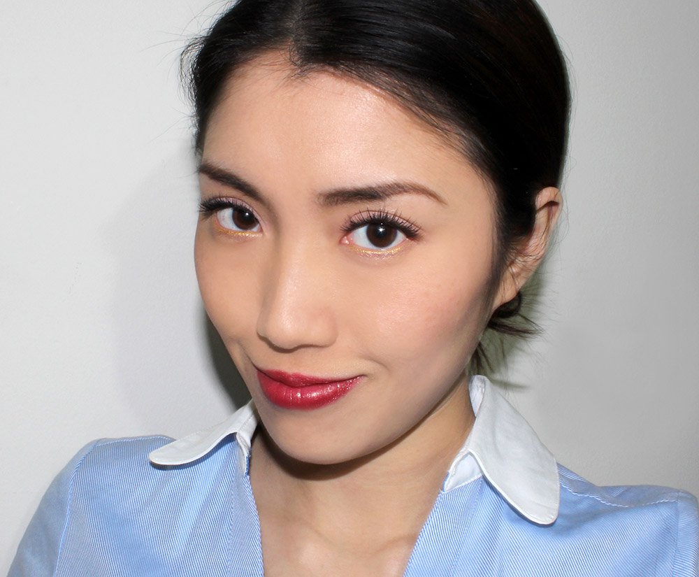 Wearing Make Up For Ever Pro Finish Multi-Use Powder Foundation in #118 Neutral Beige