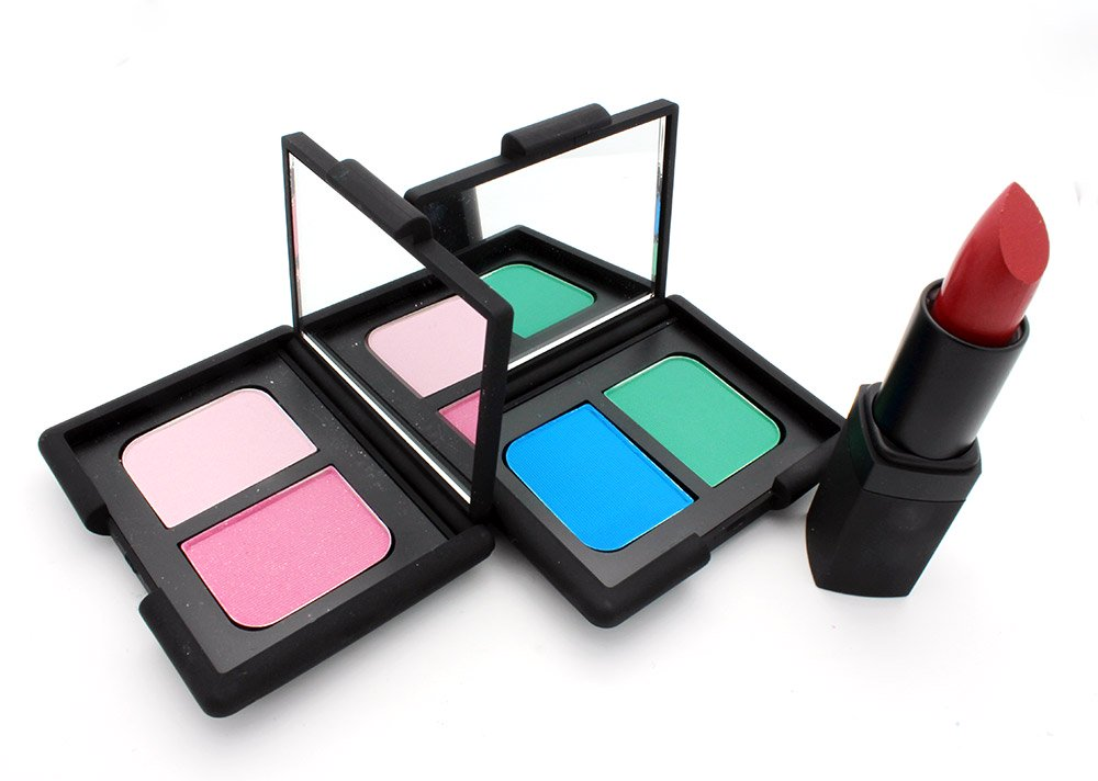 NARS Spring 2013 Bouthan Duo Eyeshadow, Mad Mad World Duo Eyeshadow and Dressed to Kill Lipstick