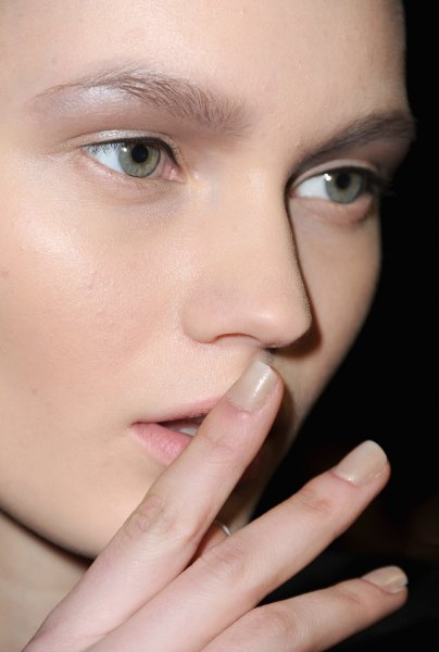 Alexander Wang Fall 2013 backstage makeup and nails