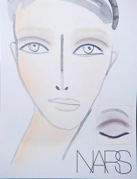 Alexander Wang Fall 2013 makeup face chart
