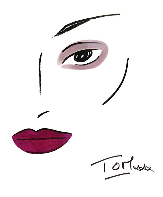 Anthony Vaccarello A/W 2013 makeup face chart by Estee Lauder