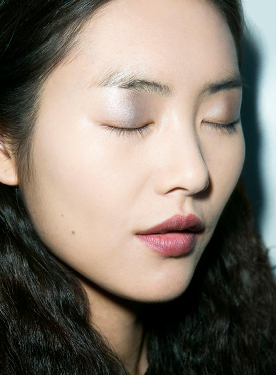 Derek Lam Fall 2013 runway makeup and nails