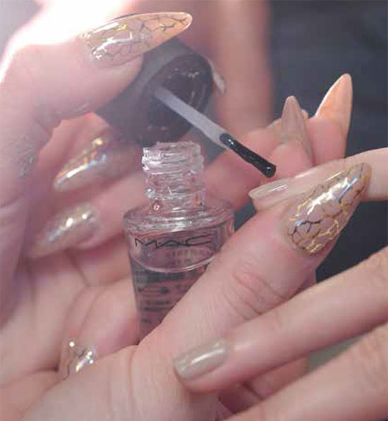 Putty nails at Donna Karan Fall 2013