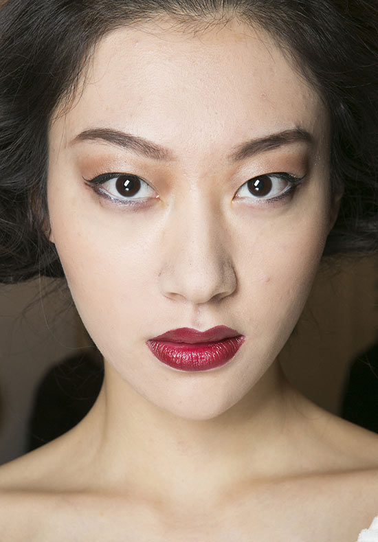 50s glamour makeup at Douglas Hannant A/W 2013