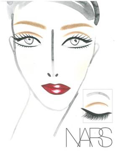 Douglas Hannant A/W 2013 makeup face chart by NARS
