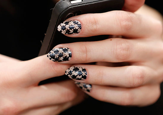 Lace nail look at Emerson A/W 2013