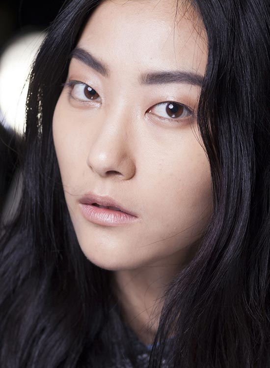 Helmut Lang Fall 2013 runway beauty