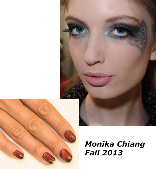Monika Chiang Fall 2013 runway makeup by Lancome