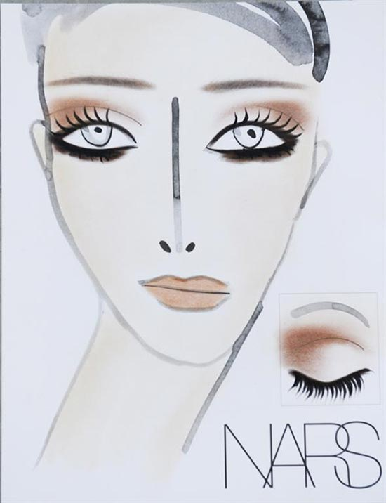 Rodarte Fall 2013 face chart by NARS
