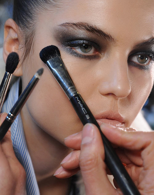 Smoky eyes at Donna Karan Fall 2013